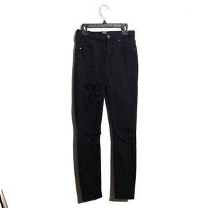 Topshop Moto 'Jamie' | High Waist Distressed Jeans